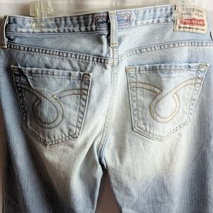 Big Star Light Wash Distressed Rikki Jean Capris